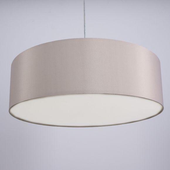 Pendelleuchte, Stoffschirm, graubraun, Fassung E14 für LED Leuchtmittel