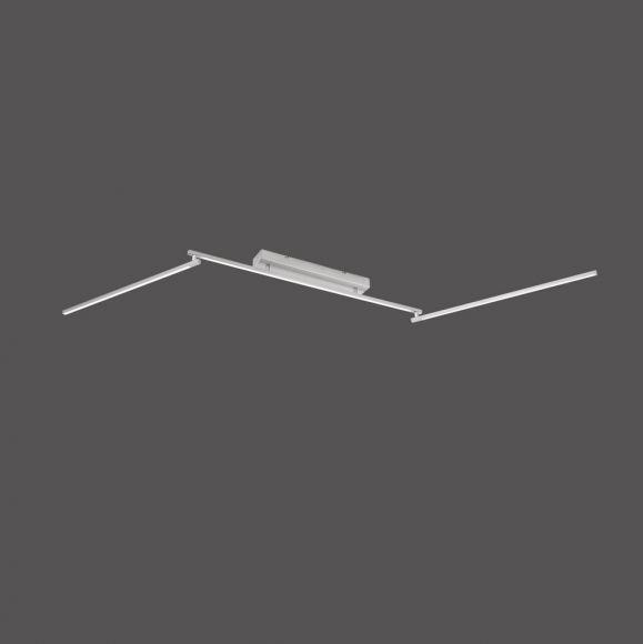 Schwenkbare LED-Deckenleuchte Stahl/Acrylglas