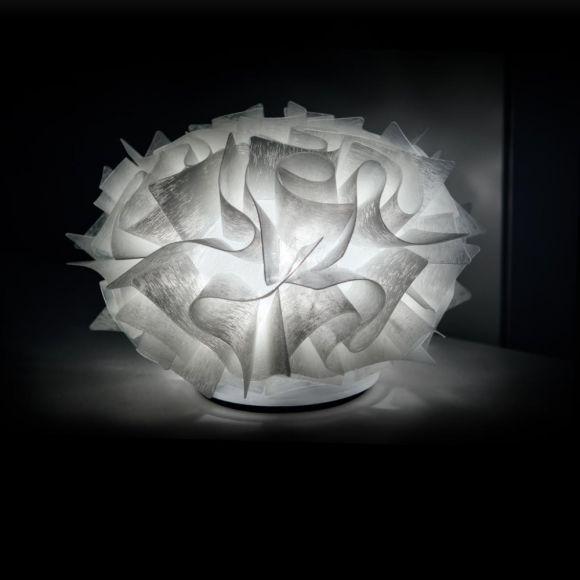 Slamp Designer-Tischleuchte Veli Couture in brushed white