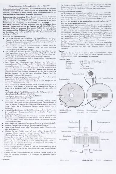 S.L.V. Kompakt Transformator 50 Hz maximal 50 Watt