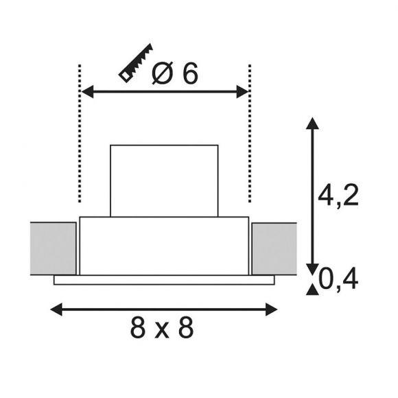 S.L.V. LED-Deckeneinbauleuchte Patta-I weiß