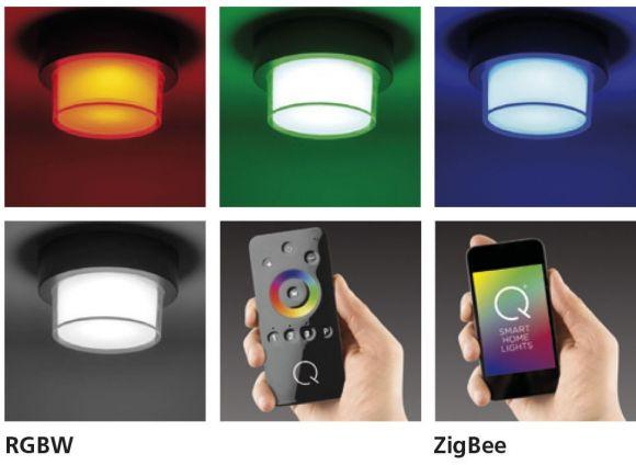 Smart Home LED Außenwandleuchte Q®-Erik rund