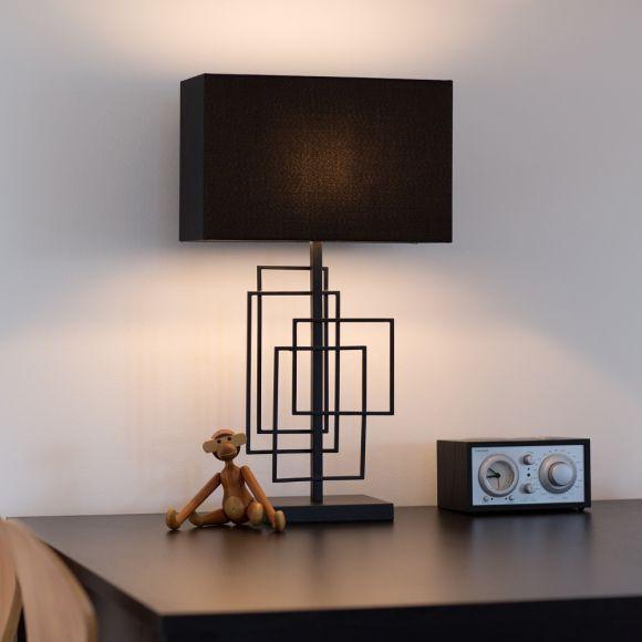 KOSTANO Tischleuchte Modern Glasbehang Tisch Leuchte