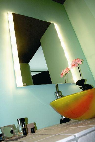 Top Light Kristallspiegel BrightLight mit seitlichem Lichtaustritt, 80 x 40 cm