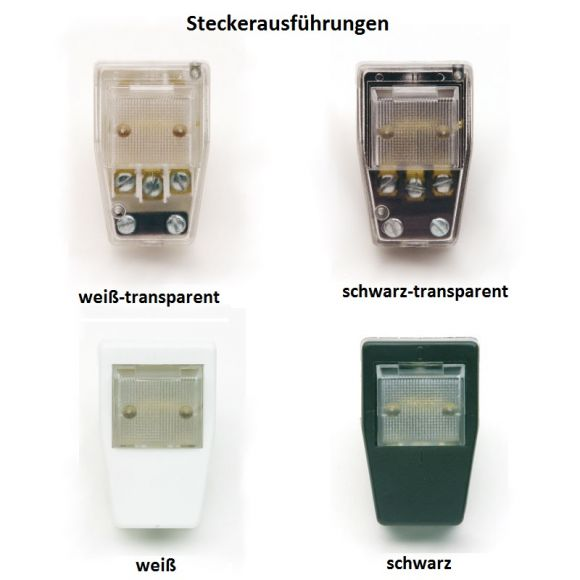 Top Light Steckerleuchte Pluglight Flex Chrom, Schirm Schwarz