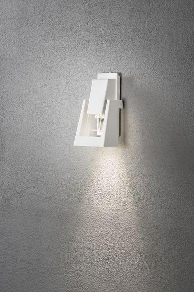 Wandleuchte New Potenza aus Aluminium in Weiß oder Anthrazit