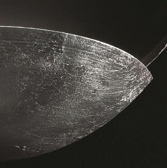 Wandleuchte, D 27cm, Mosaik silber, Reflektorschale Blattsilber