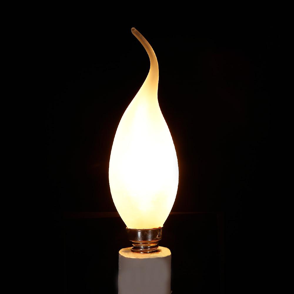 C35 Kerze  Windstoß satiniert matt 40W E14