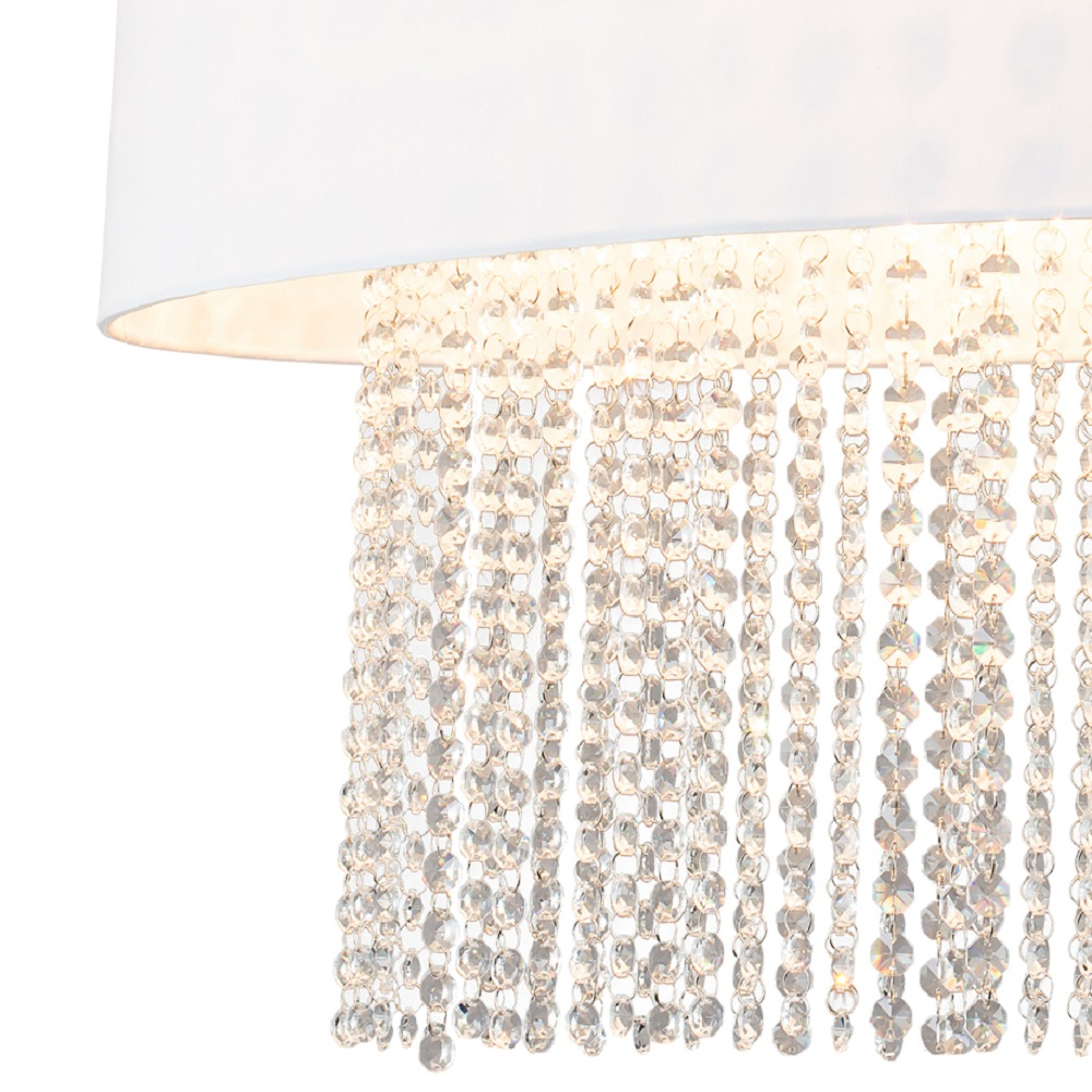 Deckenleuchte Kristall oval oder rund