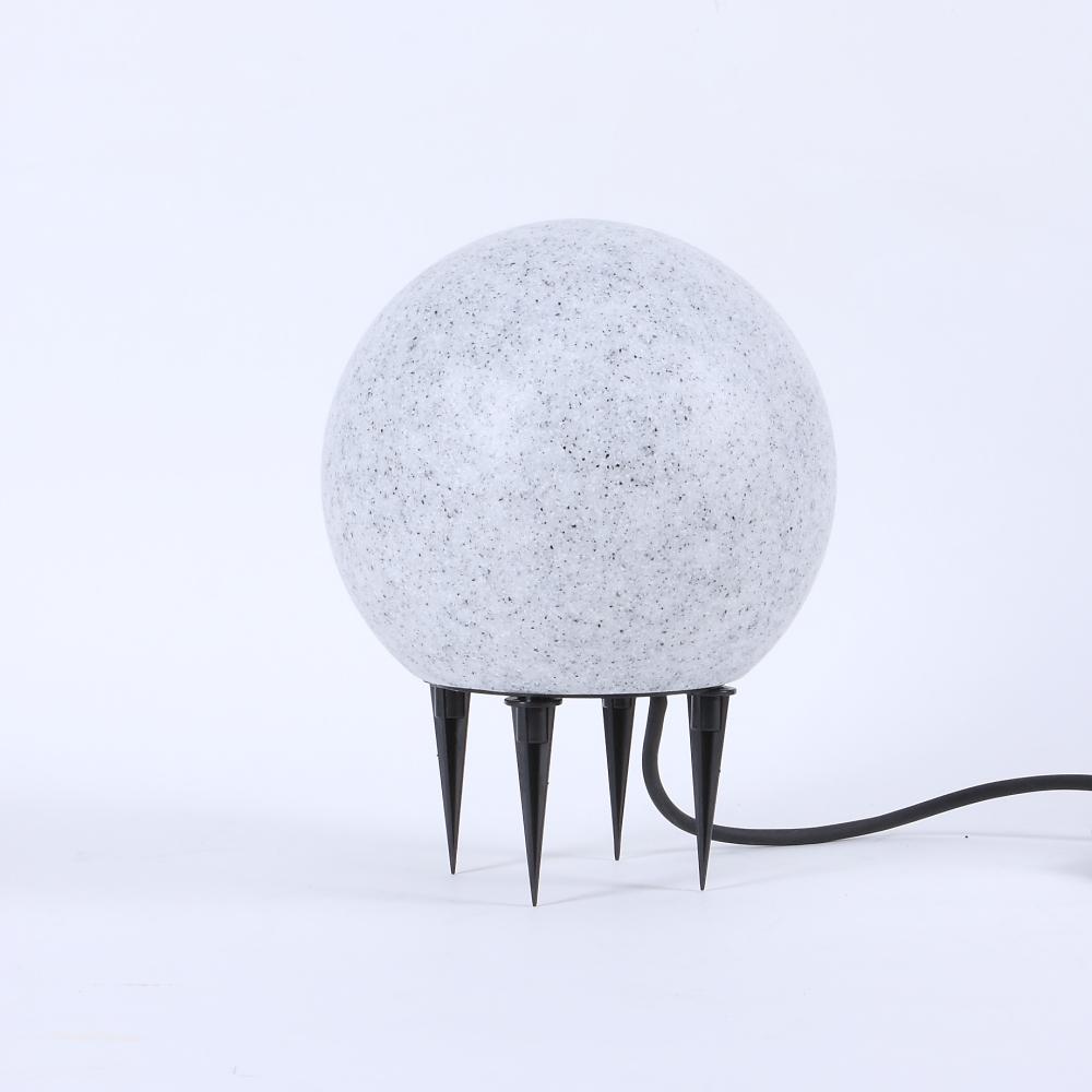 LHG Dekorative Kugelleuchte in Granit-Optik, Ø 20cm + 6 Watt LED
