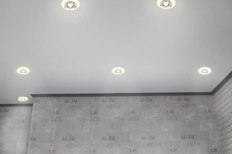 LHG Einbauleuchte, 5-er Set, rund, Glasring, inkl. Halogen GU10 35 Watt