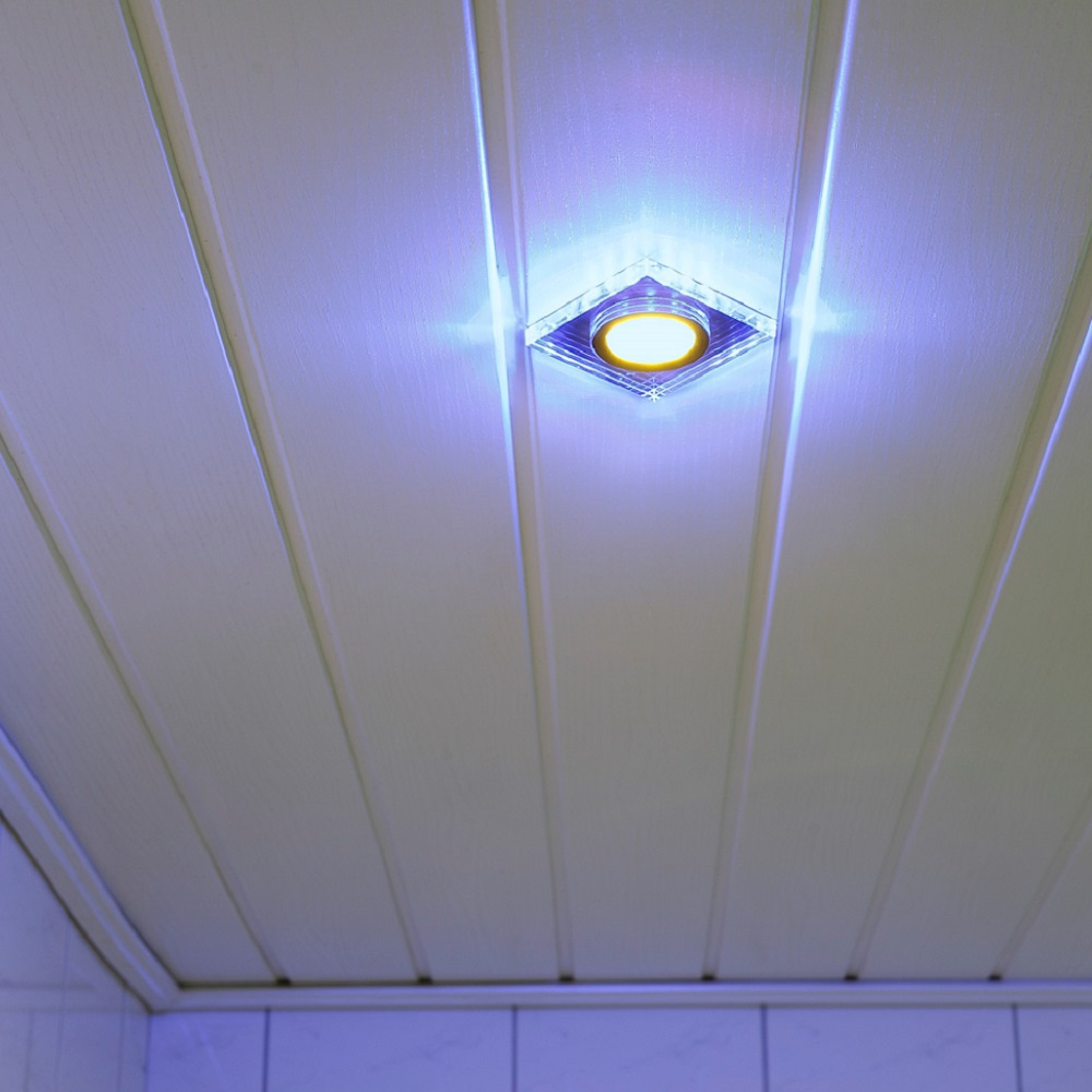 Einbauleuchte, dekorativ, eckig, inkl. LED Hintergrundbeleuchtung