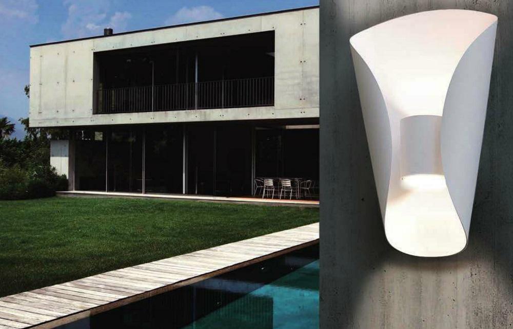 LED Außenwandleuchte in Edelstahl,  up & down