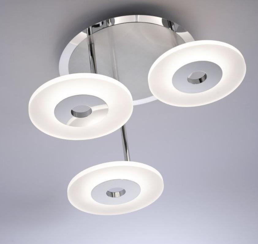LED Deckenleuchte, Stahl, Glas, 3-flammig, Simplydim