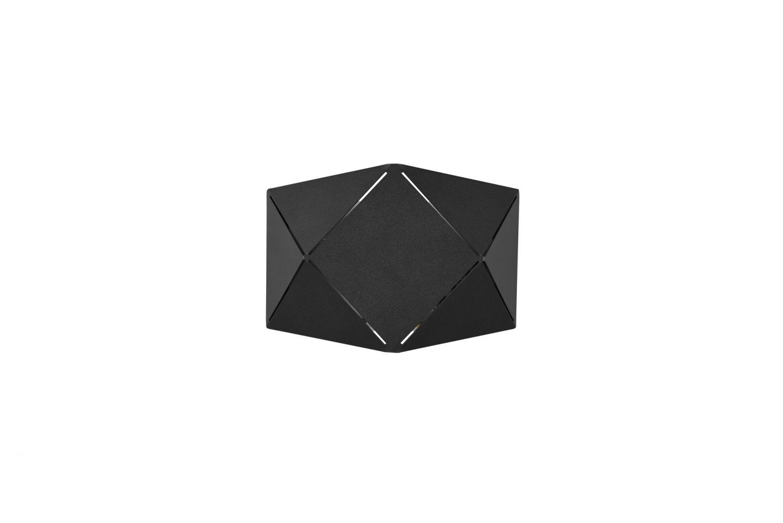 LED Wandleuchte, geometrisch, Up & Down, 18cm lang, Schwarz
