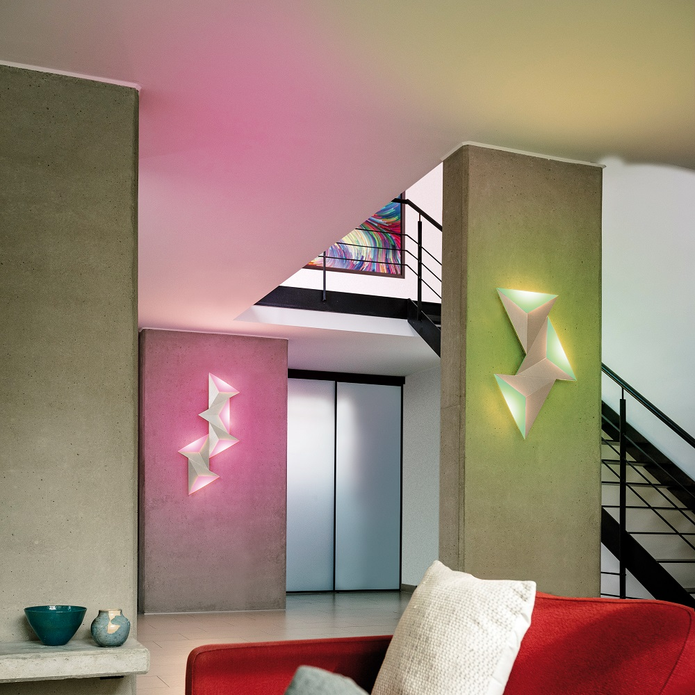 LED Wandleuchte, Smart Home, Fernbedienung, Q-intelligentes Licht