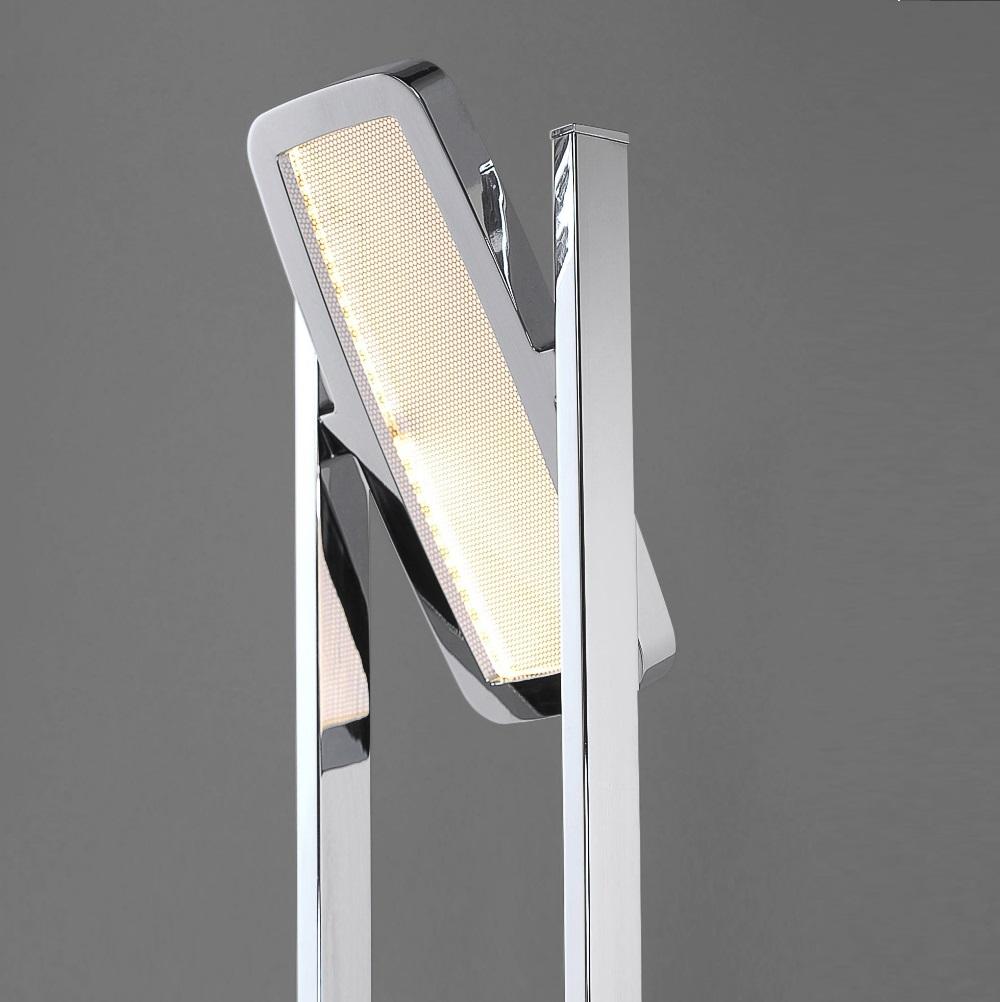 LED-Tischleuchte Ilona in Chrom, dimmbar - 1 x 4,6W LED