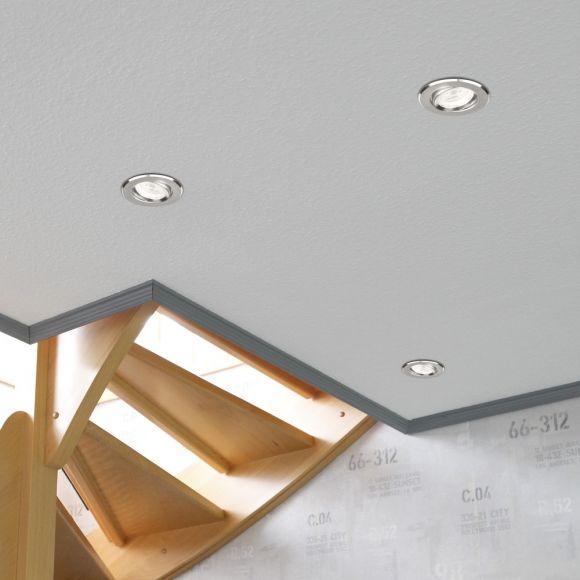 LHG 5er-Set  Einbaustrahler für die Decke  Aluminium matt Deckenspot