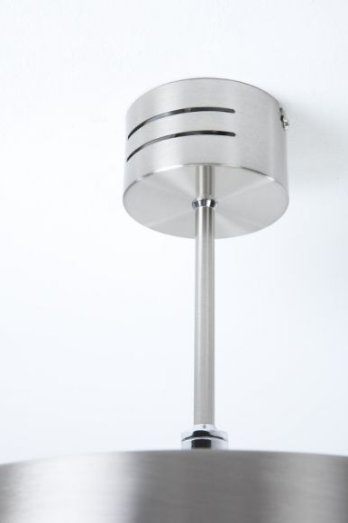 LHG Deckenleuchte, silberfarbig, rund, D 30 cm, modern, dimmbar