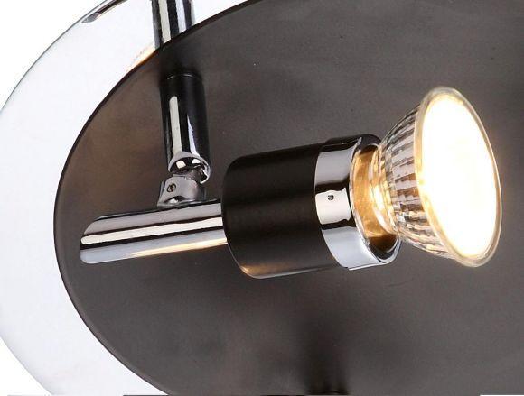 LHG Deckenstrahler, 3 flammig,  inklusive Leuchtmittel und Ersatzleuchtmittel  je 3x GU10 50W