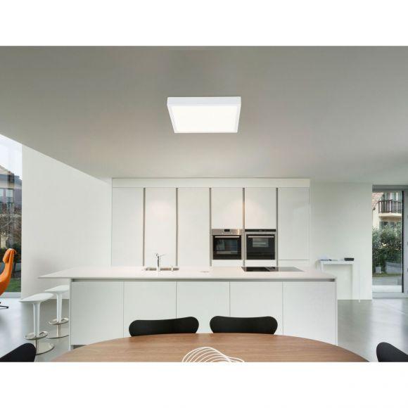 eckige LED Deckenleuchte aus Aluminiumdruckguss und Acryl quadratisch flach Deckenlampe weiß