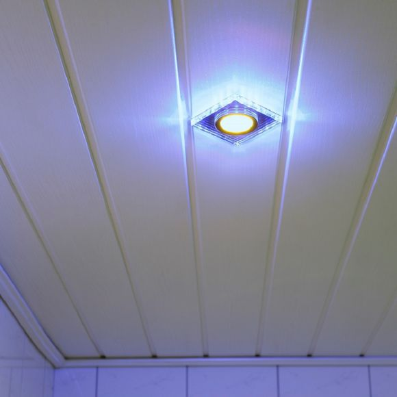 LHG Einbauleuchte, dekorativ, eckig, inkl. LED Hintergrundbeleuchtung