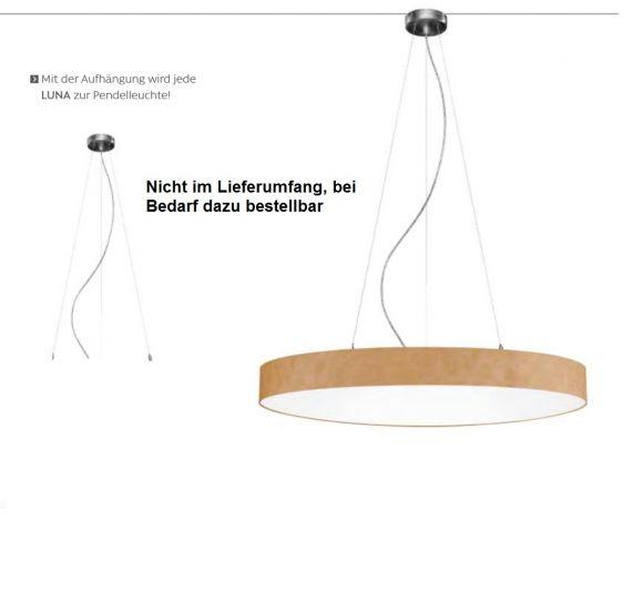 Hufnagel LED-Deckenleuchte Luna Ø 60cm Lederoptik 2700K, simple switch &dim