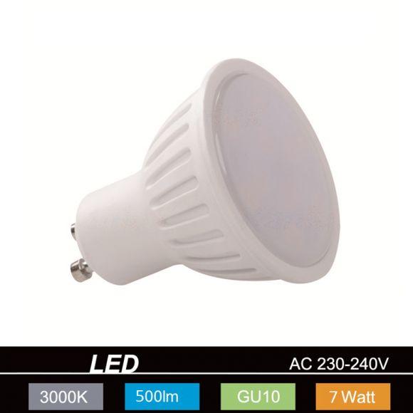 LED Decken-Einbaustrahler 10-er Set , Aluminium, eckig, inkl. 7W LED, GU10, 9,1 x 9,1 cm