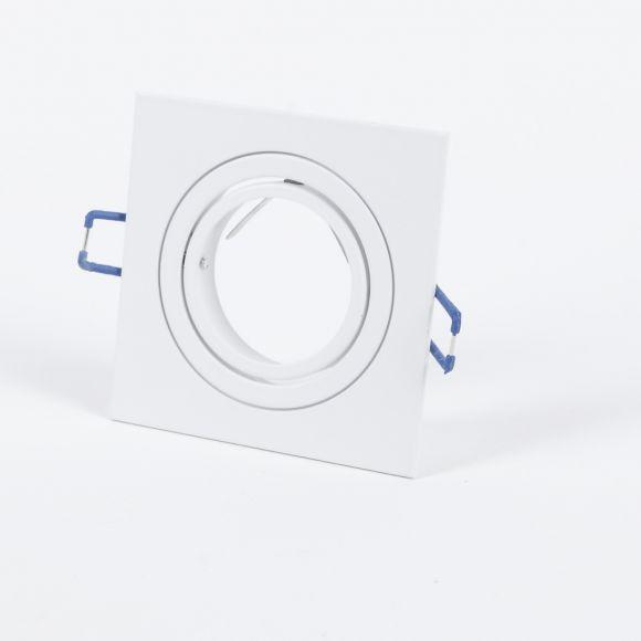 LED Decken-Einbaustrahler 5- er Set, Weiß, eckig. inkl.5 W LED