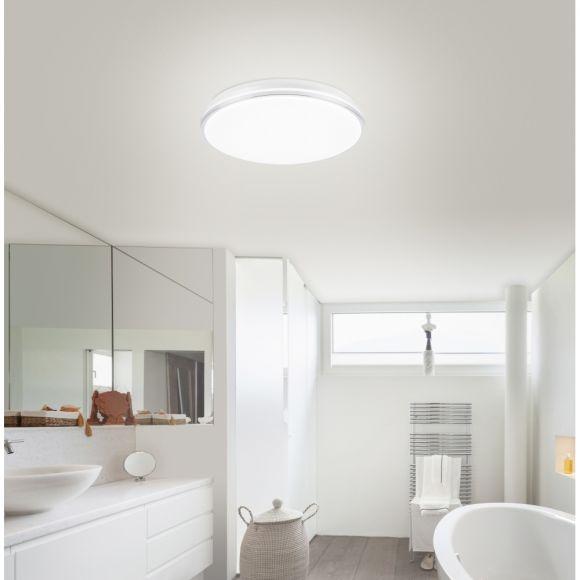 LED Deckenleuchte Q-BENNO Smart Home, D 49 cm, Fernbedienung, LED steuerbar
