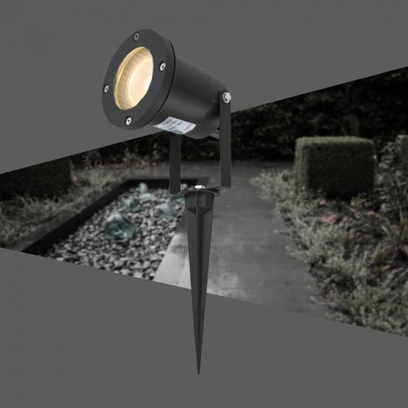 LED Erdspieß-Strahler, verstellbar, Gartenleuchte, inkl. LED, 3 Farben