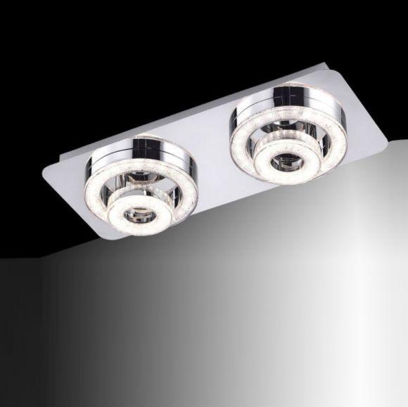 LED Leuchte mit Acrylglaseinsätzen Länge 40cm