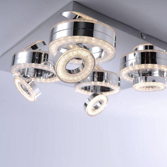 LED Leuchte Tim 40 x 40cm mit Acrylglaseinsätzen
