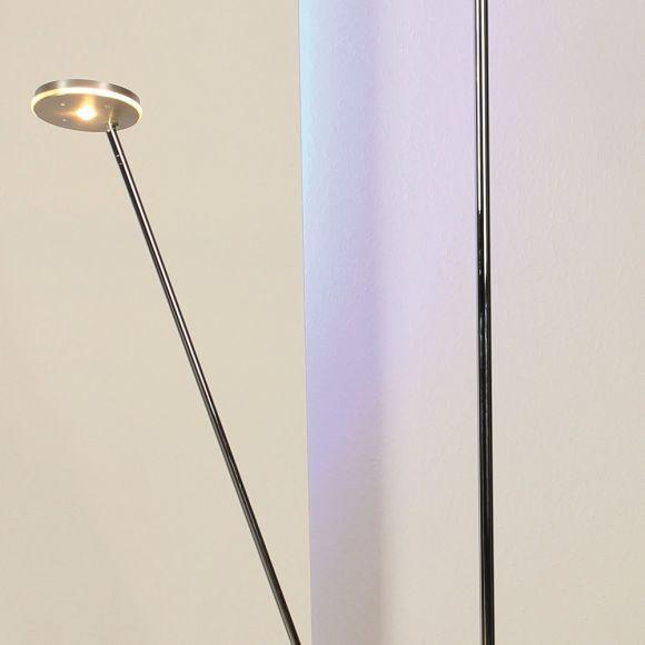 LED-Deckenfluter Spot it mit Lesearm und Tastdimmer, schwenkbar