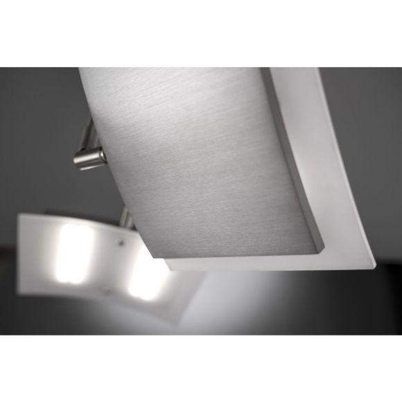 LED Deckenleuchte 2 flammig modern, Lichtfarbwechsel CCT, Fernbedienung