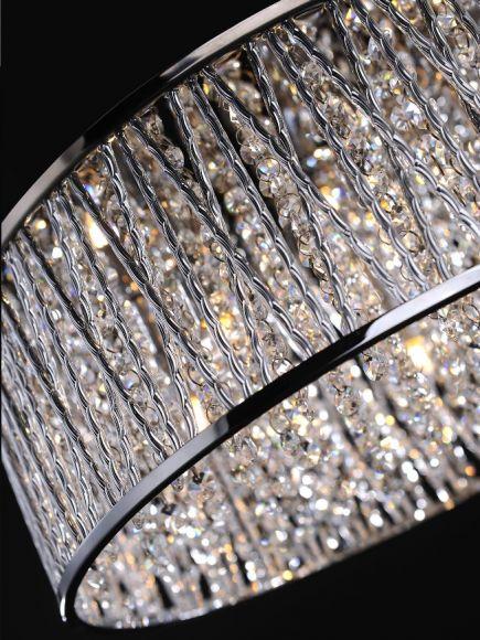 LED-Kristalldeckenleuchte Lefes, 2 Größen