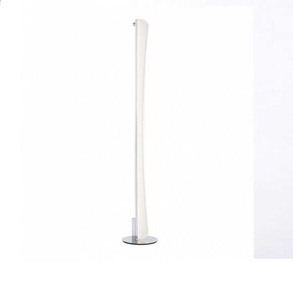 LED-Stehleuchte Chrom/Acrylglas - inklusive 39,2W LED