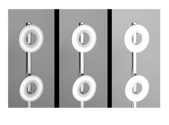 LED-Stehleuchte Chrom/Glas - 6x4,2Watt LED