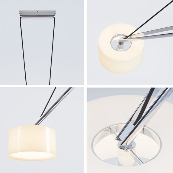 Serien-Lighting LED-Pendelleuchte Twin mit 2700K
