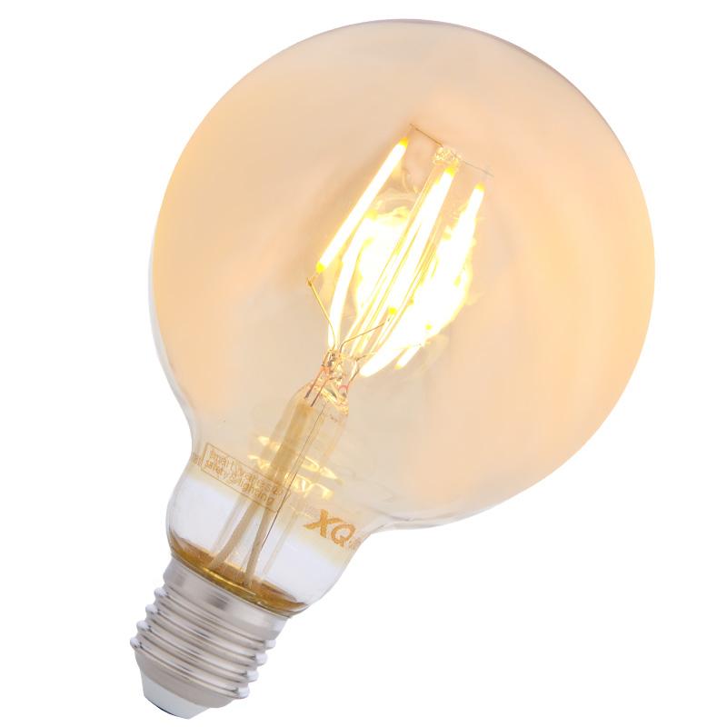 LHG 10-er Set G95 LED-Filament E27 Globe in gold  4W 2200K