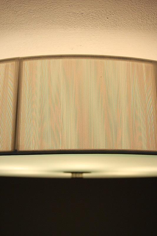 LHG Deckenleuchte, Organzastoff, weiß, rund, D=60,5cm