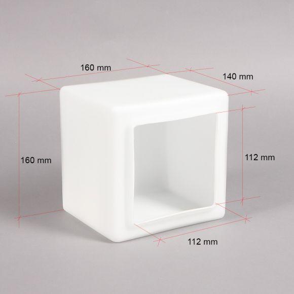Ersatzglas Geometrische Formgebung weiß