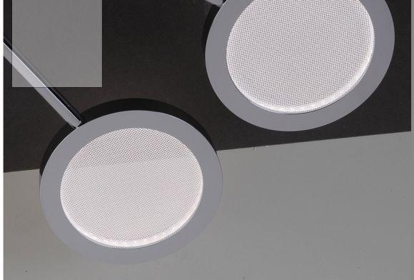 3 flammige LED-Deckenleuchte Stahl/Chrom - inklusive High-Power 4,6Watt LED Board
