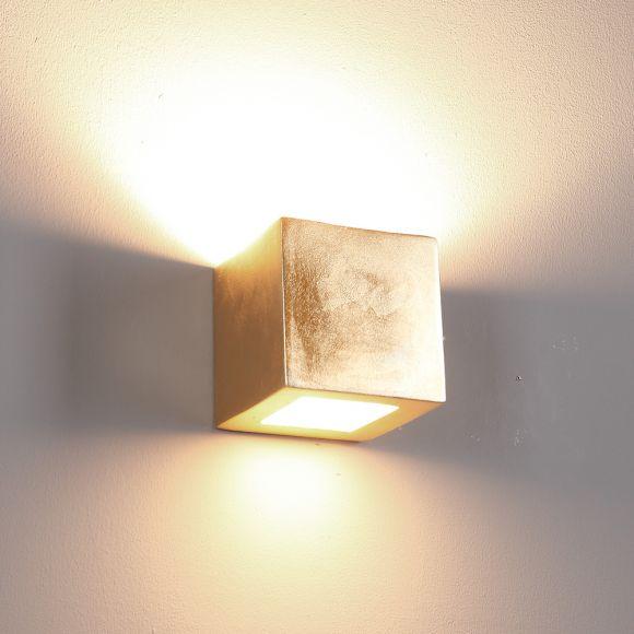 Gipswandleuchte, modern, Lichtaustritt und Oberfläche wählbar