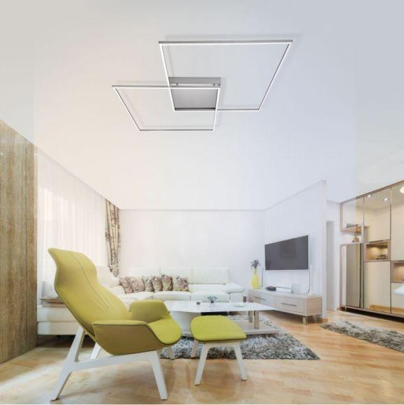 LED Deckenleuchte, Q®, Smart Home, ZigBee kompatibel, dimmbar, stahl