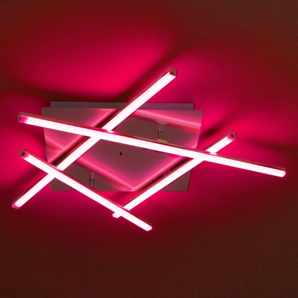 LED Deckenleuchte, RGB, Farbwechsel, Fernbedienung, modern, 2 Größen
