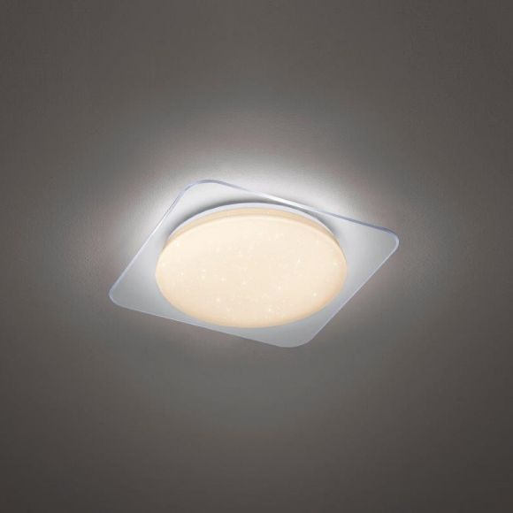 LED-Deckenleuchte Sakai mit Farbwechsel und Fernbedienung