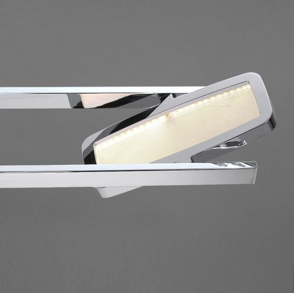 LED-Wandleuchte Chrom - 1x 4,6W LED, 3000K
