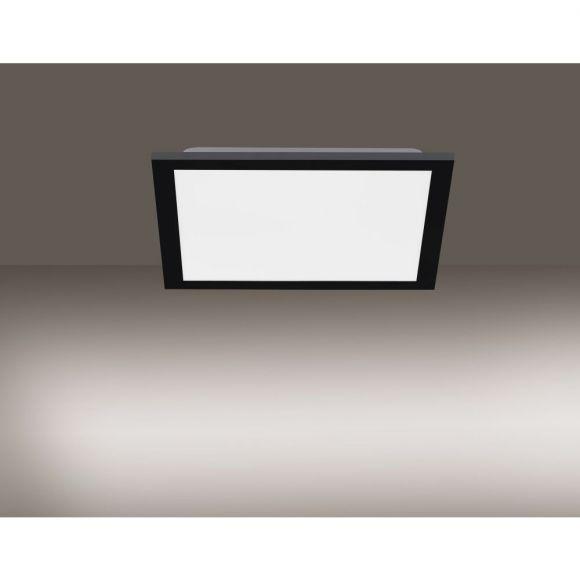 Schwarzes CCT-LED Deckenpanel 120x30cm, 36W mit Fernbedienung und Memoryfunktion