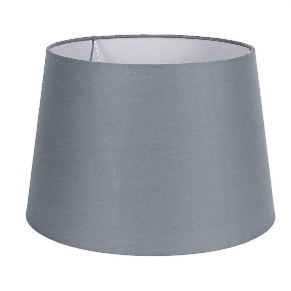 LHG Tischlampe, Holzfuß, Stoffschirm, Grau, 42,50cm hoch, klassisch